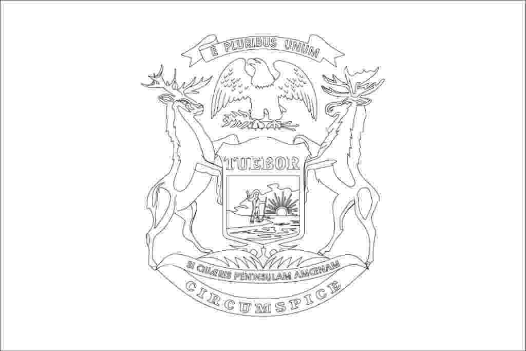 michigan state flag coloring page iowa state coloring pages at getcoloringscom free state michigan flag coloring page