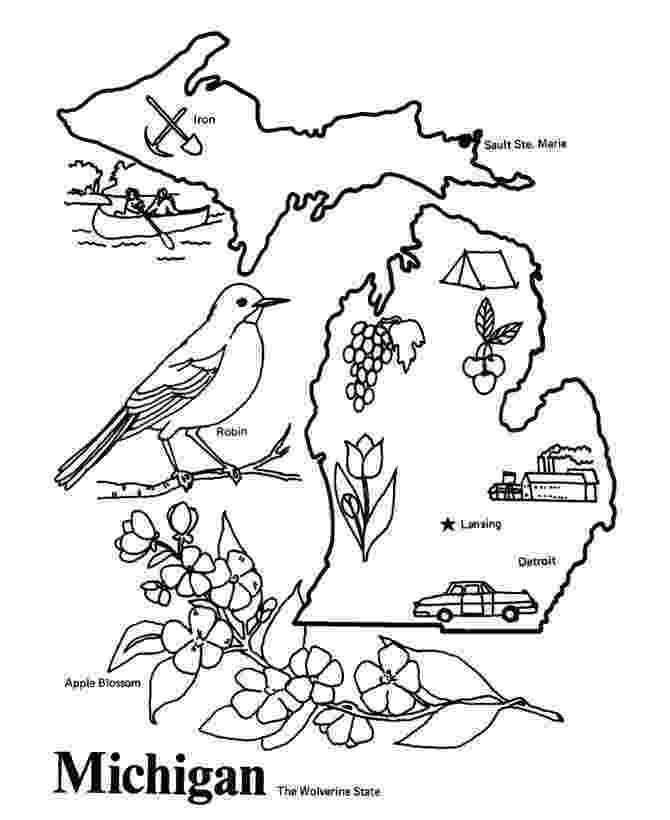 michigan state flag coloring page michigan coloring page crayolacom coloring flag page state michigan