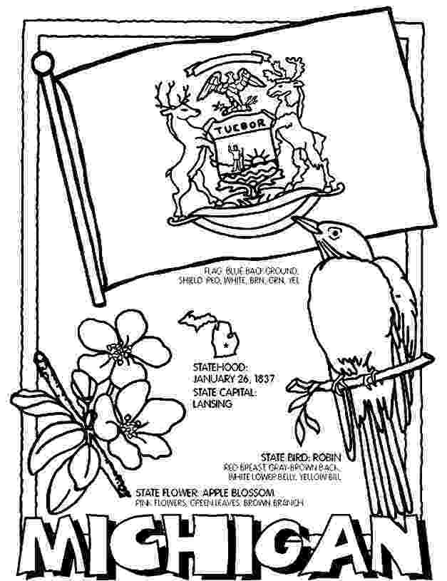 michigan state flower michigan coloring page michigan colors michigan flag flower michigan state