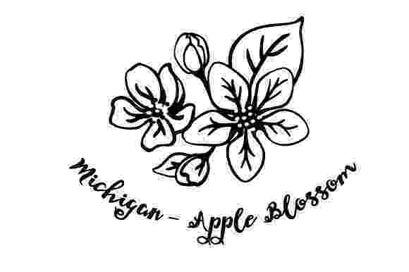 michigan state flower state flower michigan apple blossom svg cut file by state flower michigan