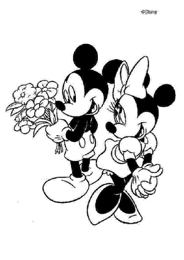 mickey and minnie mouse coloring pages mickey giving minnie mouse balloons coloring page h m pages mickey minnie mouse coloring and