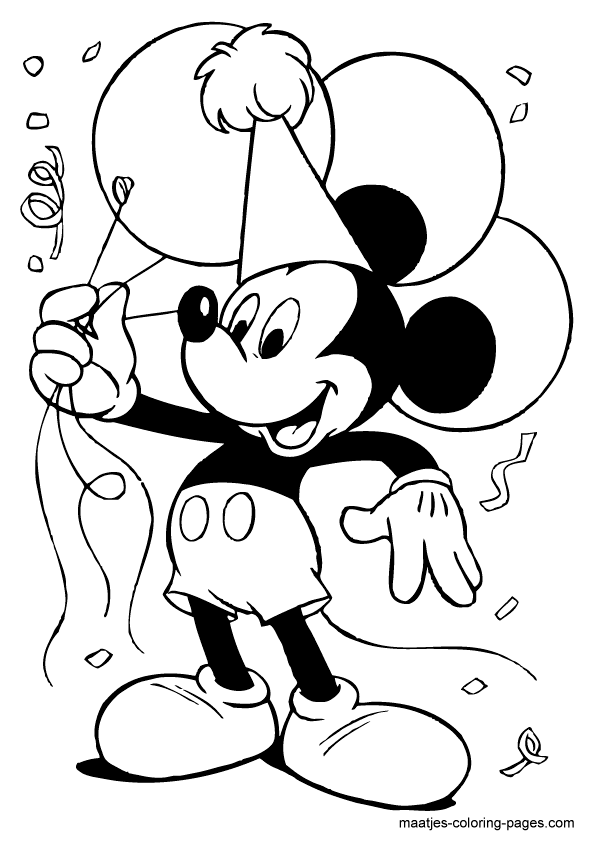 mickey mouse birthday coloring pages birthday gifts and balloons mickey mouse disney coloring mickey coloring pages birthday mouse
