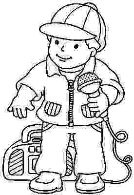 microphone coloring pages children singing coloring page at getdrawingscom free pages microphone coloring
