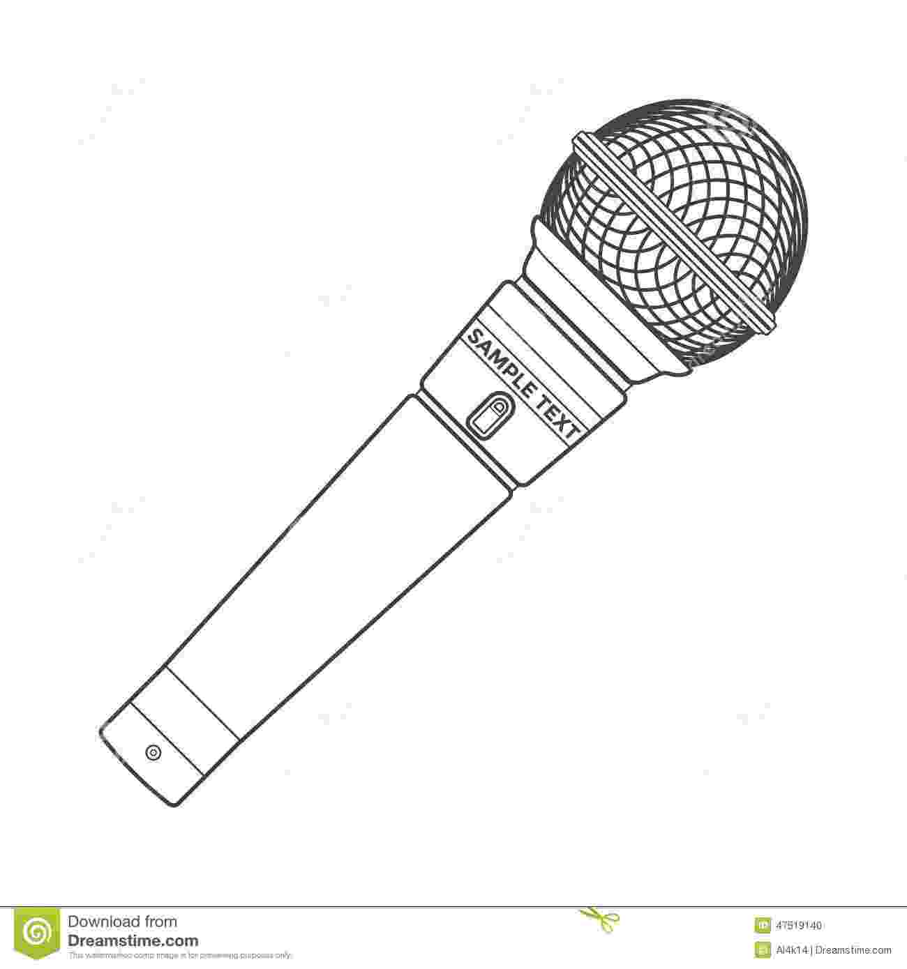 microphone coloring pages microphone coloring pages coloring pages to download and pages coloring microphone