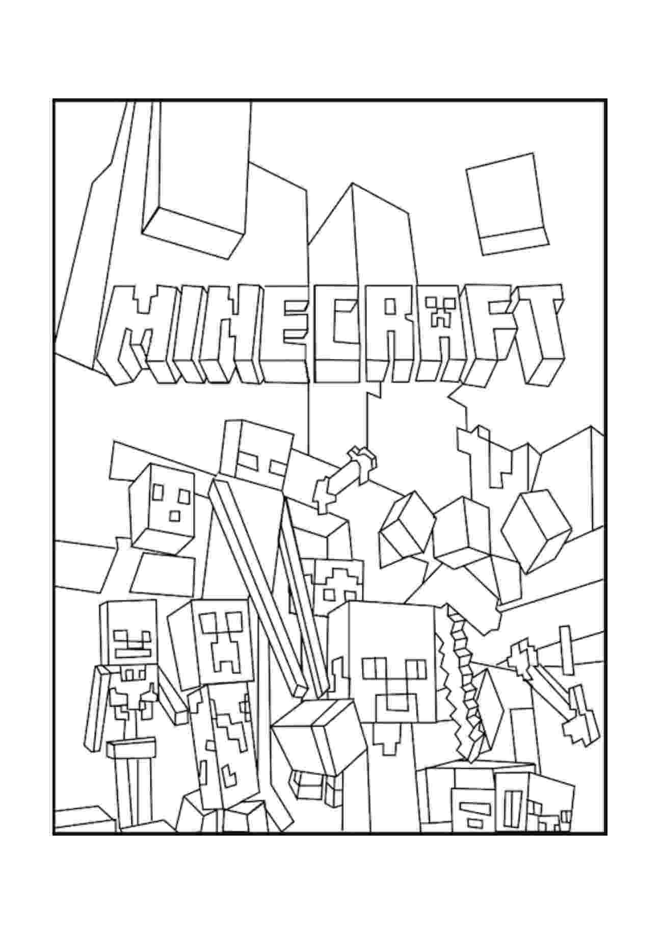 minecraft coloring pages to print 17 best images about mine värityskuvia on pinterest coloring print minecraft pages to