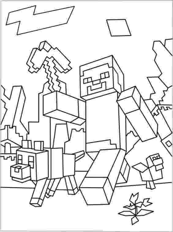 minecraft coloring pages to print minecraft animal coloring pages getcoloringpagescom print pages coloring minecraft to