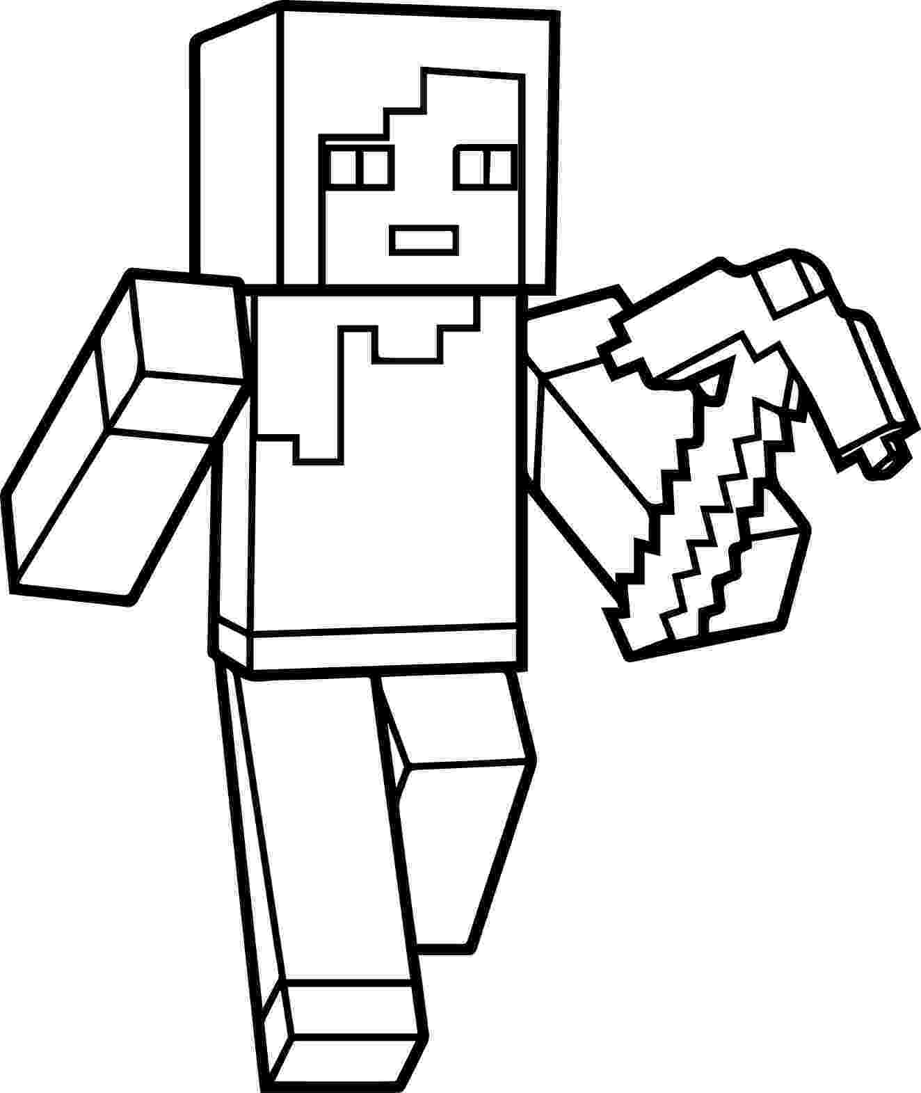 minecraft coloring pages to print minecraft coloring pages at getcoloringscom free coloring to print minecraft pages