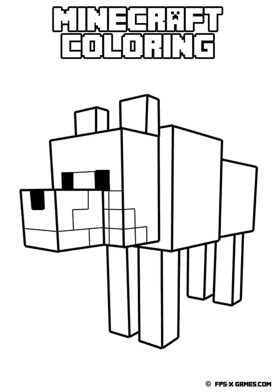 minecraft coloring pages wolf minecraft wolf coloring page free printable coloring pages pages coloring minecraft wolf