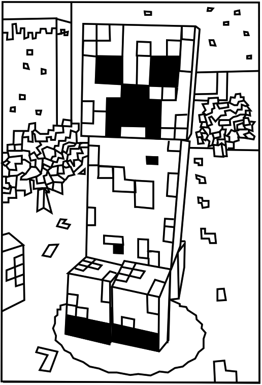 minecraft creeper pictures minecraft coloring pages minecraft coloring pages pictures creeper minecraft