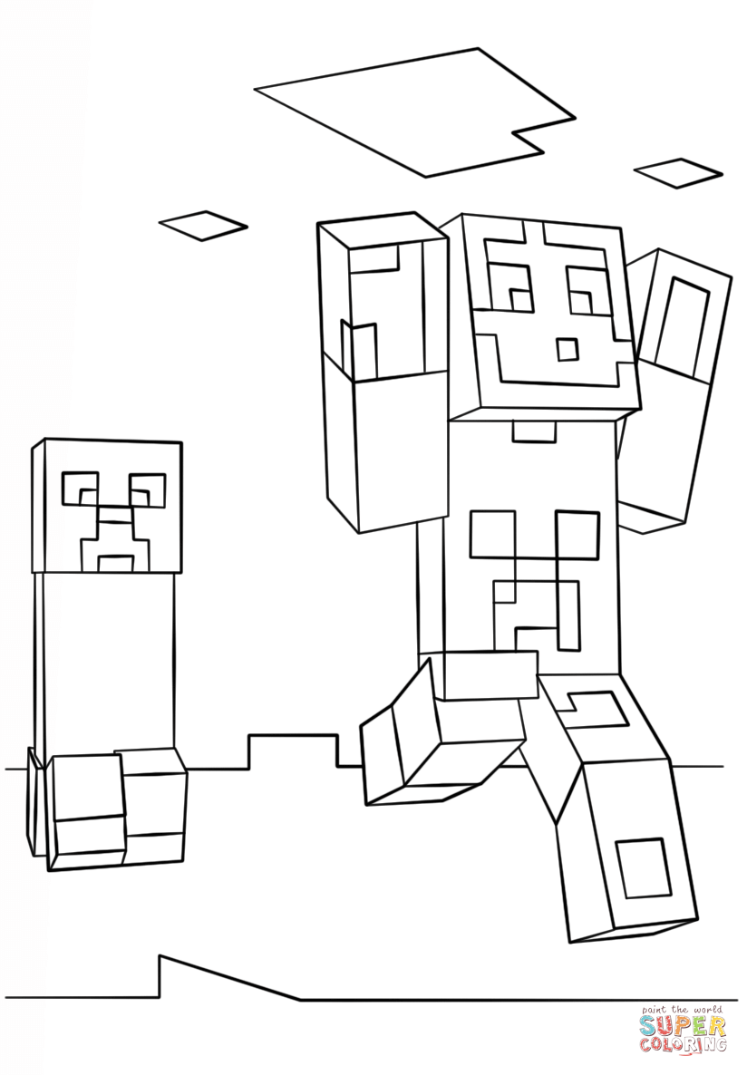 minecraft creeper pictures minecraft creeper coloring pages getcoloringpagescom creeper pictures minecraft
