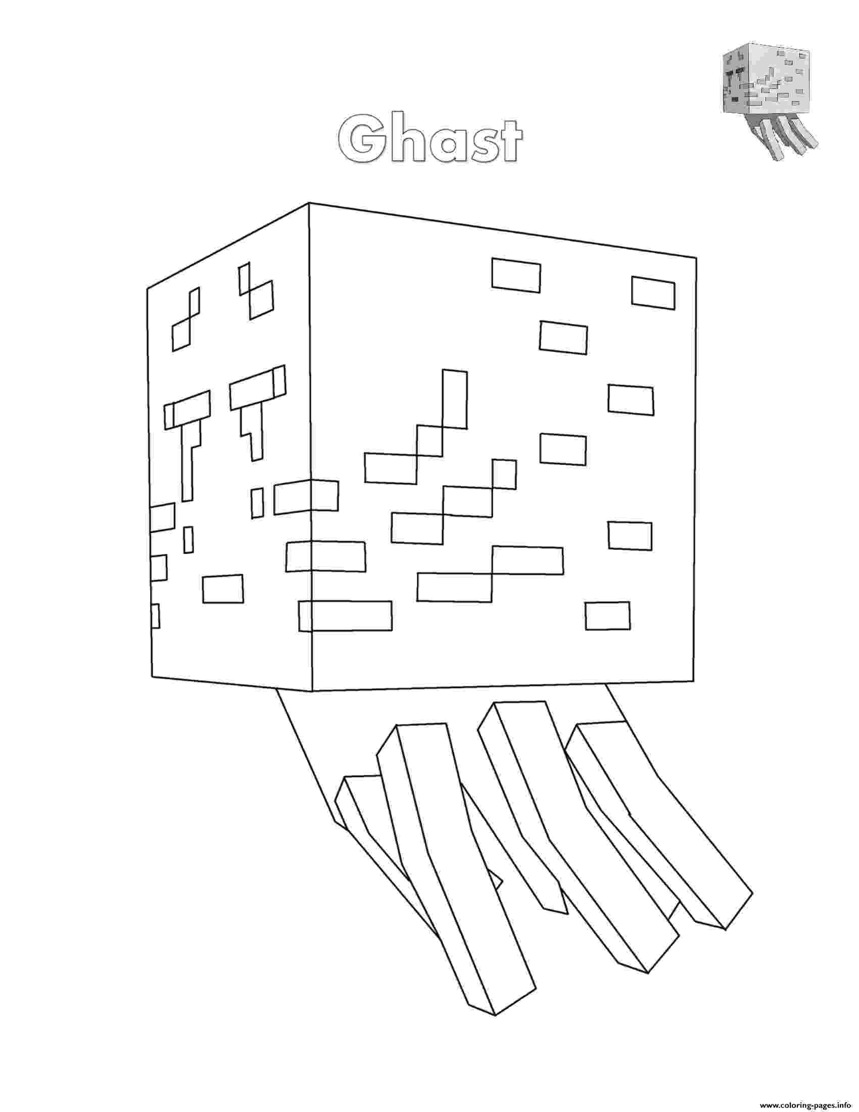 minecraft ghast coloring pages minecraft coloring pages free coloring pages coloring pages minecraft ghast