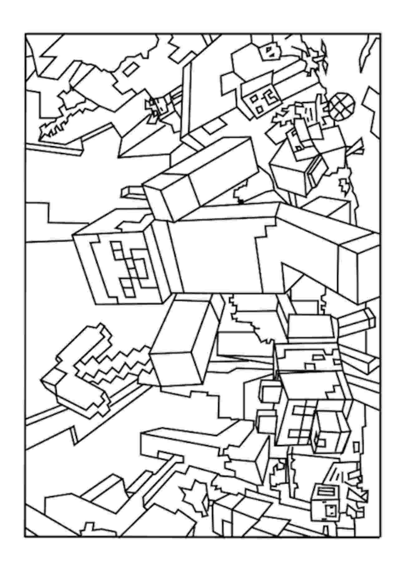 minecraft pictures to print and color minecraft coloring pages at getcoloringscom free to pictures minecraft color and print