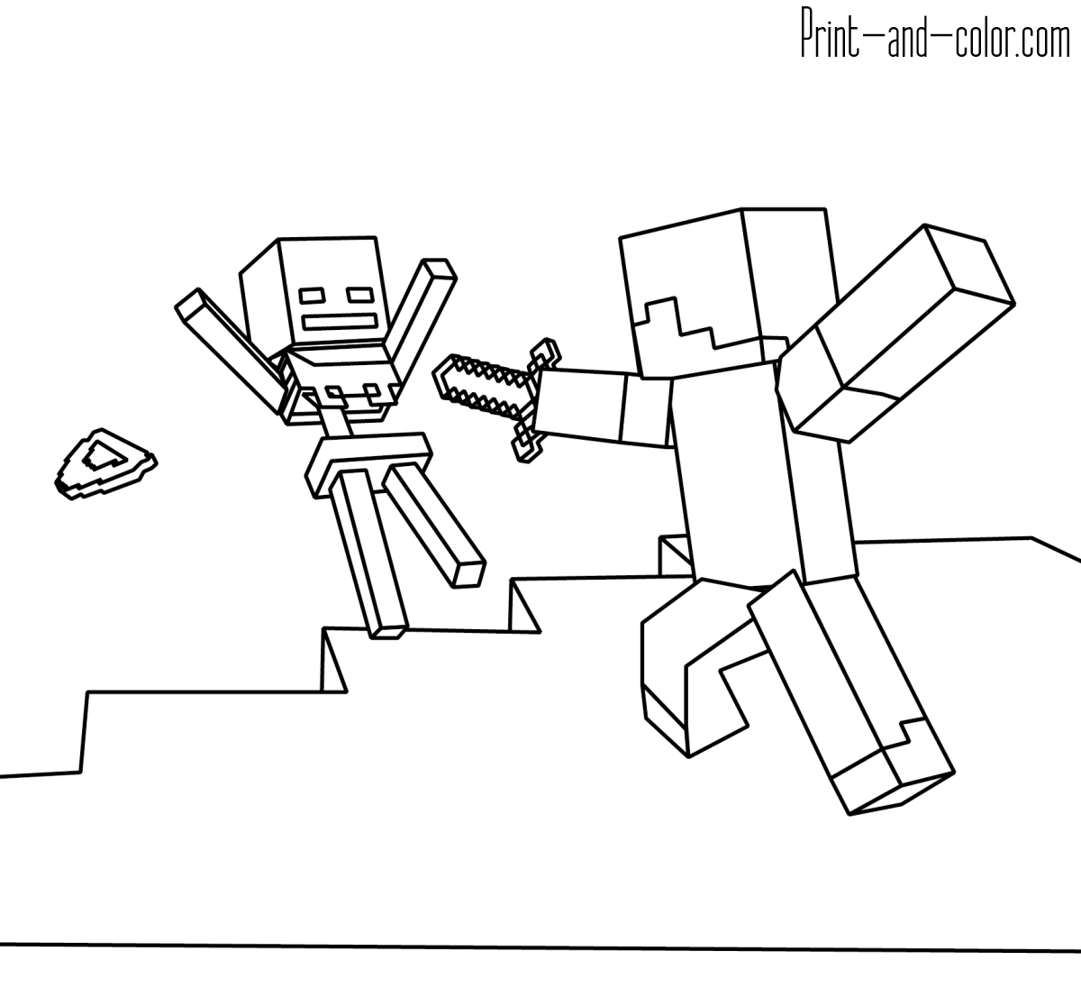 minecraft pictures to print and color minecraft coloring pages print and colorcom and pictures print to minecraft color