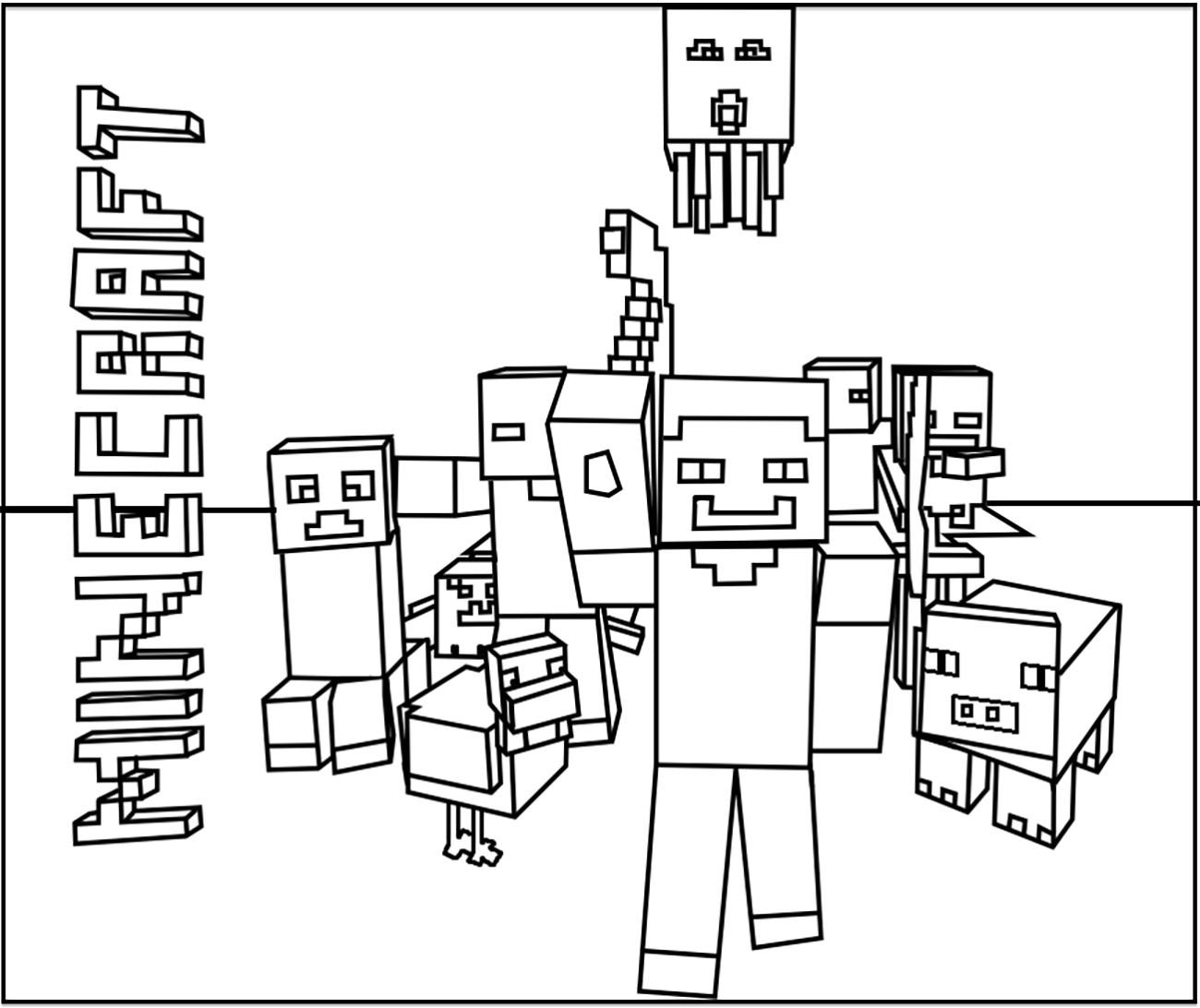 minecraft pictures to print and color minecraft free to color for kids minecraft kids coloring minecraft pictures and print color to