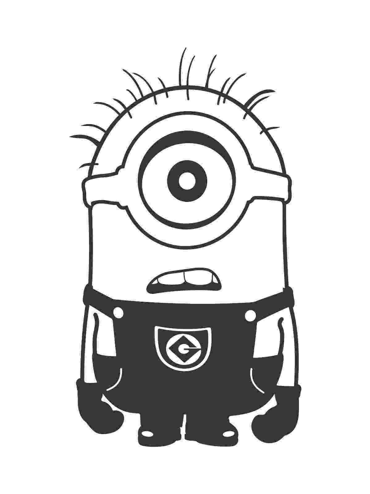 minions black and white despicable me one eyed confused minion die cut vinyl and black minions white