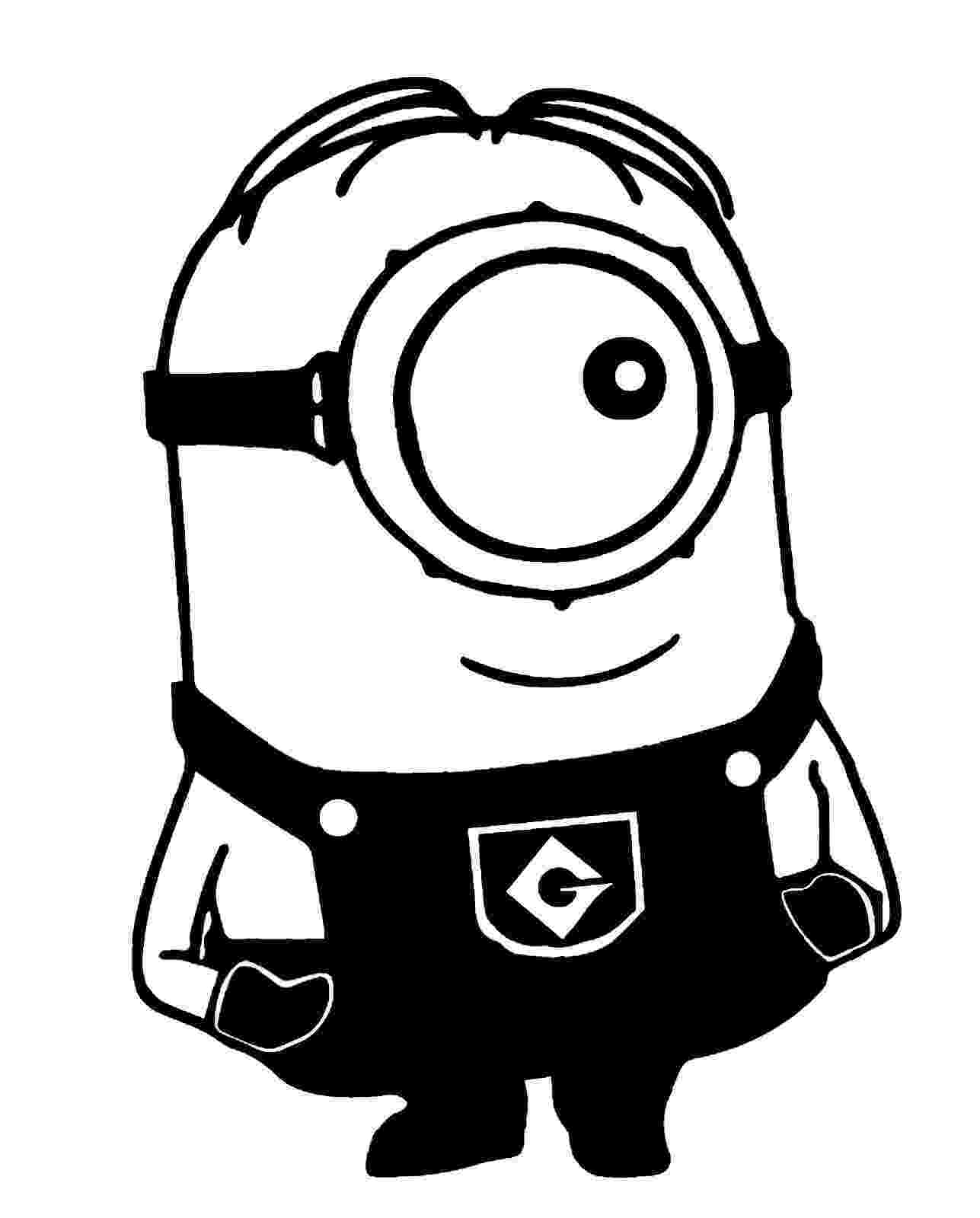 minions black and white despicable me sideways glance one eyed minion die cut white and black minions