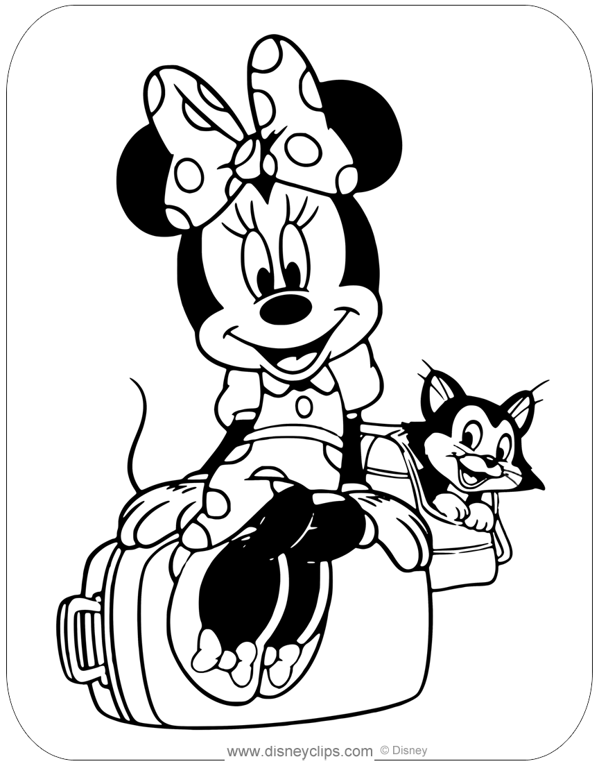 minnie mouse color minnie mouse animal friends coloring pages disneyclipscom minnie mouse color
