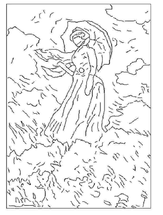 monet colouring pages monet coloring pages monet the water lily pond paint pages colouring monet