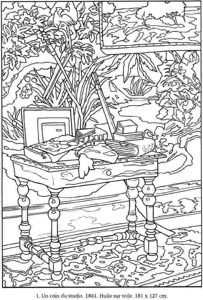 monet colouring pages welcome to dover publications colorier vos propres colouring pages monet