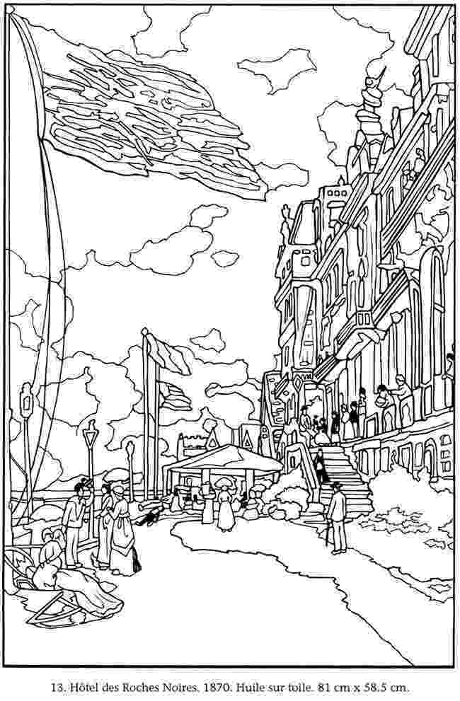 monet colouring pages welcome to dover publications colorier vos propres pages colouring monet
