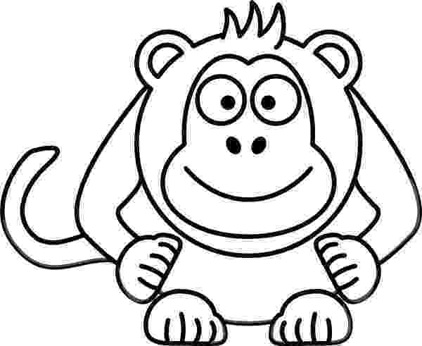 monkey cartoon coloring cute monkey coloring page for kids free printable picture monkey cartoon coloring