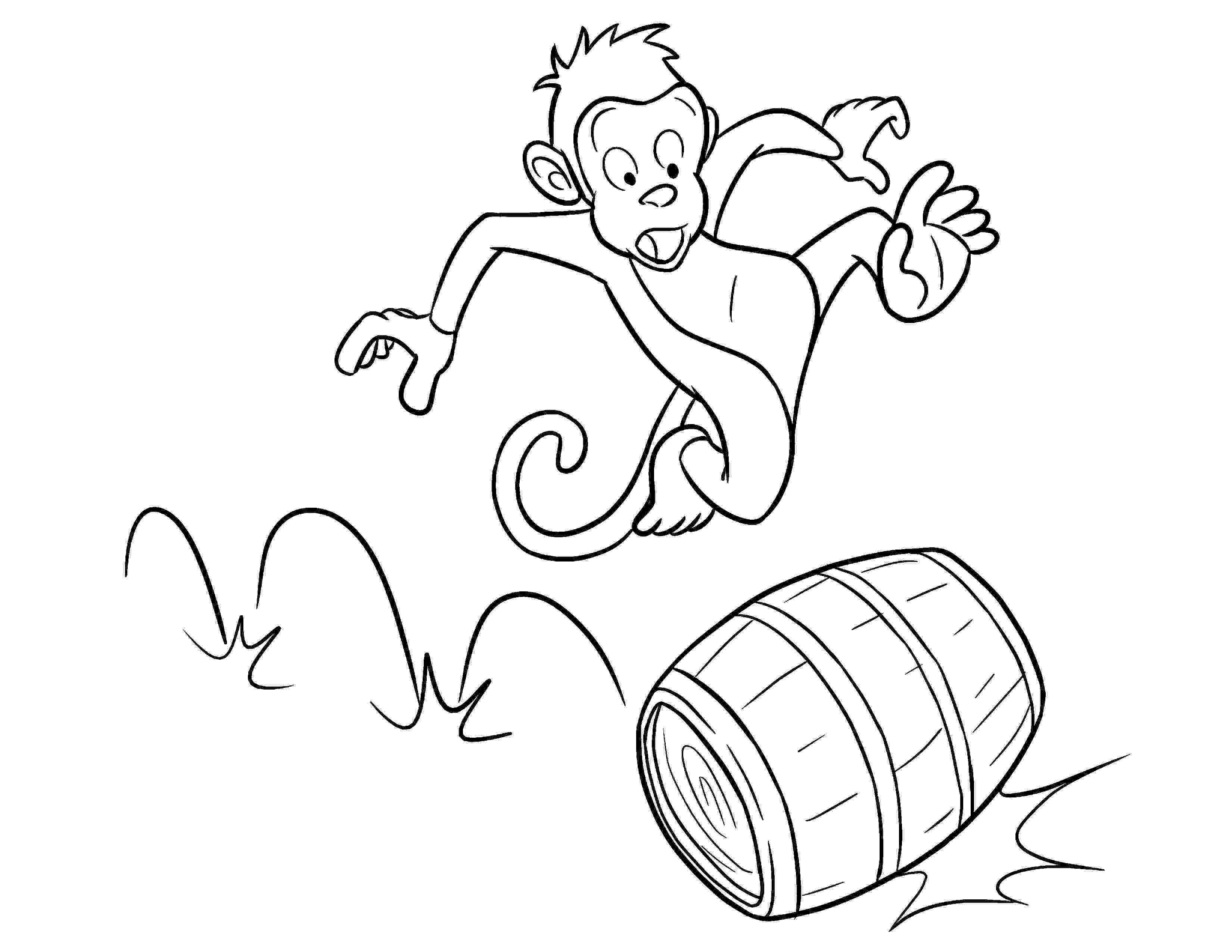 monkey cartoon coloring free printable monkey coloring pages for kids cartoon coloring monkey