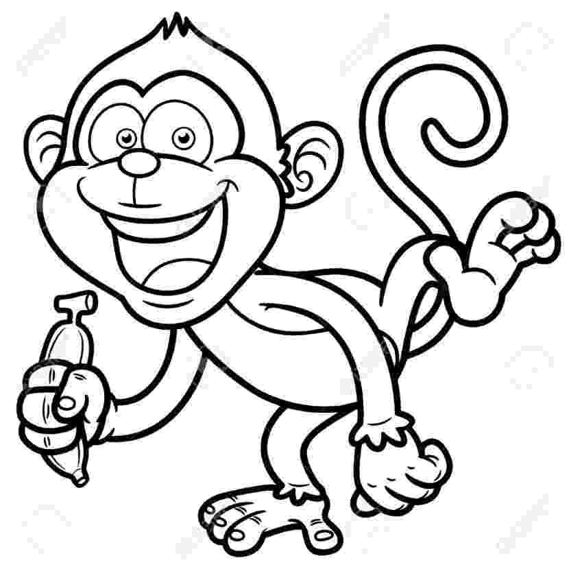 monkey cartoon coloring printable monkey clipart coloring pages cartoon crafts monkey coloring cartoon