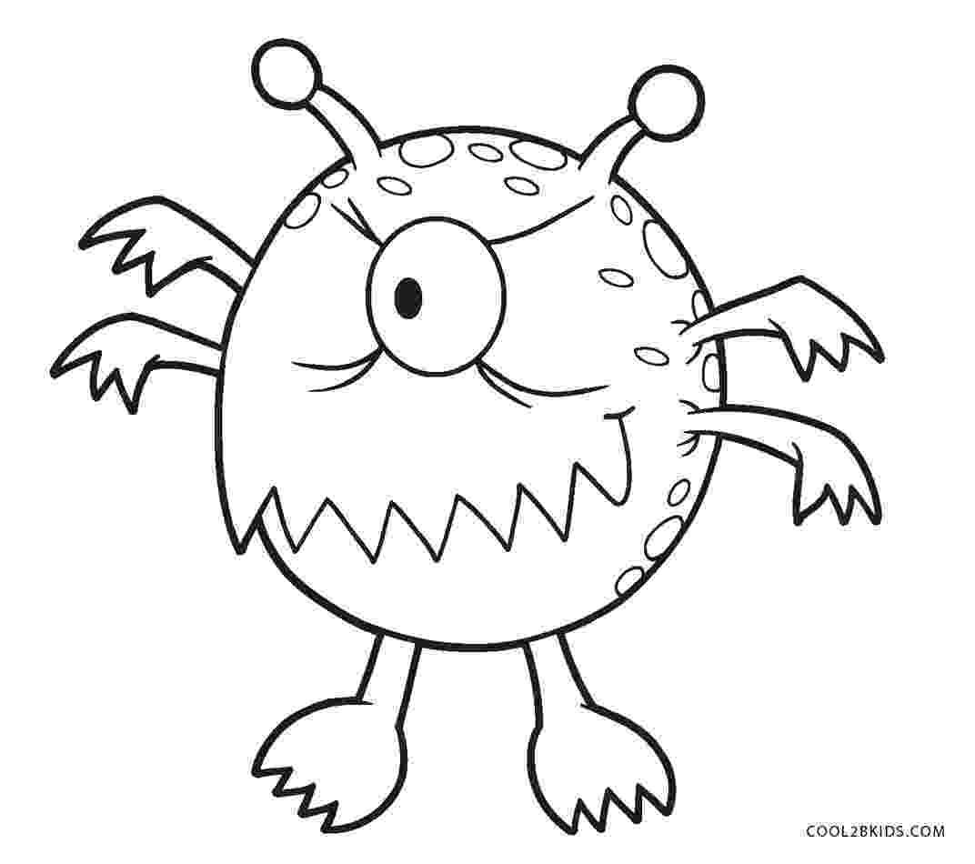 monster coloring cute cartoon monster coloring page free printable monster coloring