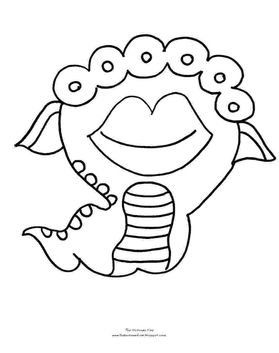 monster coloring free scary monster coloring pages download free clip art coloring monster