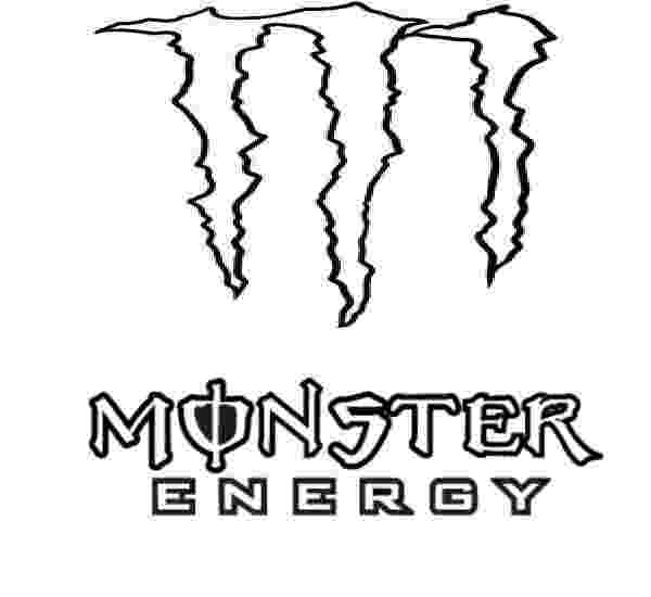 monster energy colouring pages coloriage logo monster energy imprimer et obtenir une colouring pages energy monster