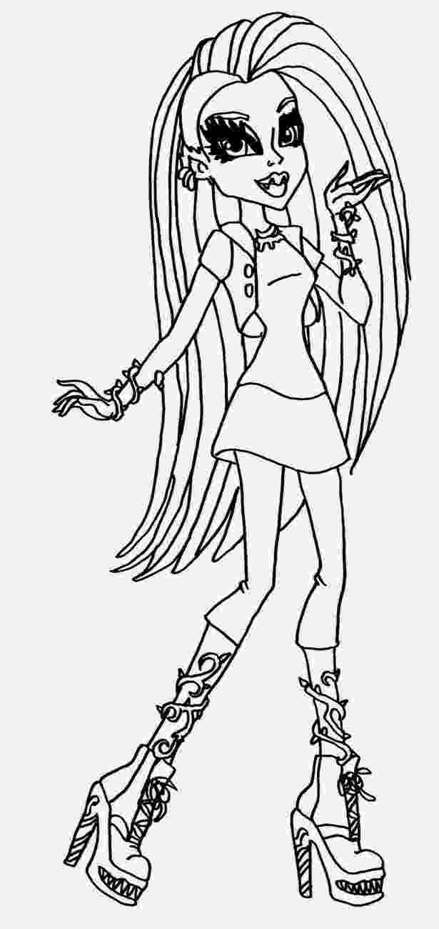 monster high color sheets coloring pages monster high coloring pages free and printable monster color high sheets