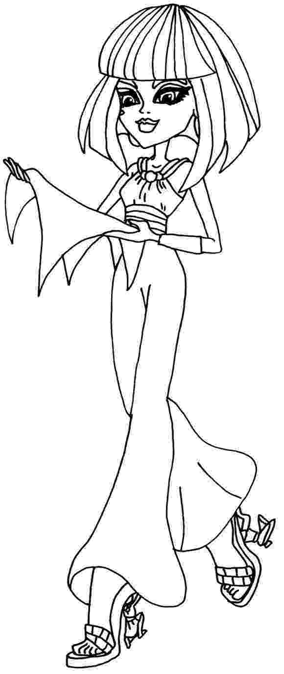 monster high coloring page cleo de nile monster high coloring pages haunted high page coloring monster