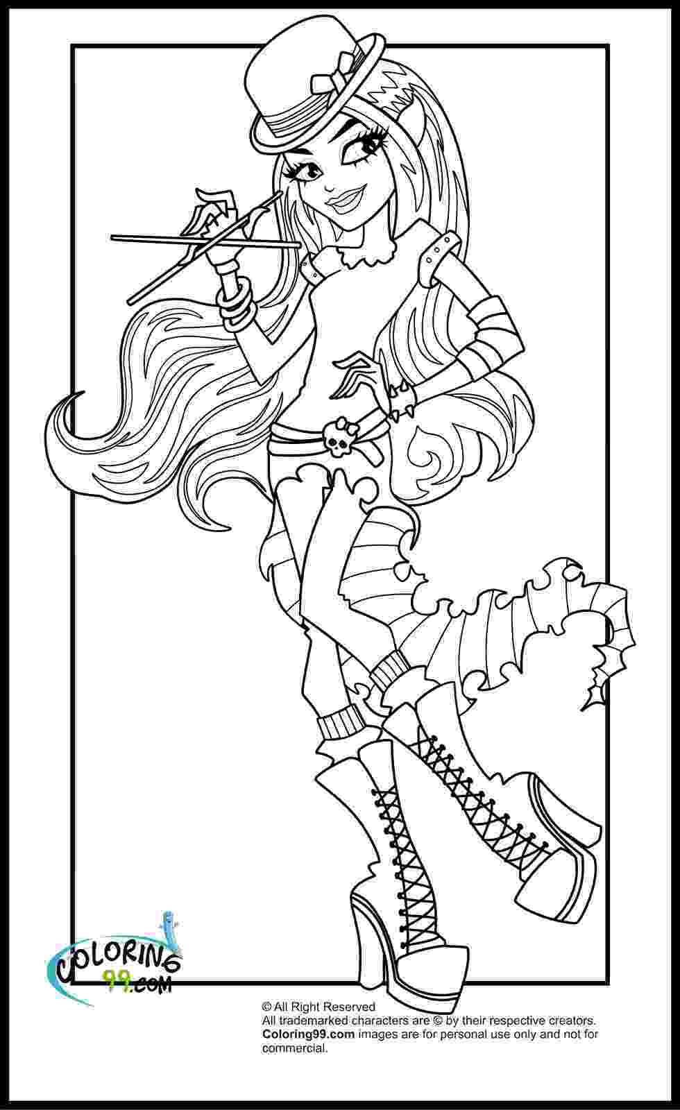 monster high coloring pages for free monster high coloring pages team colors coloring monster for free pages high