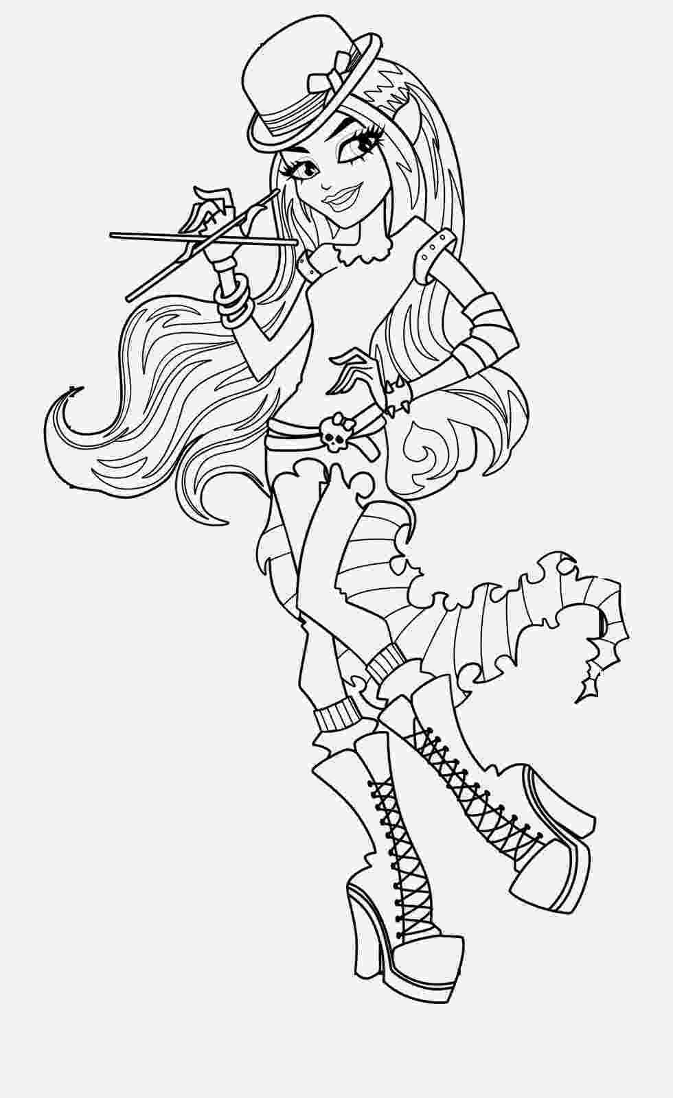 monster high coloring pages printables coloring pages monster high coloring pages free and printable high monster pages coloring printables
