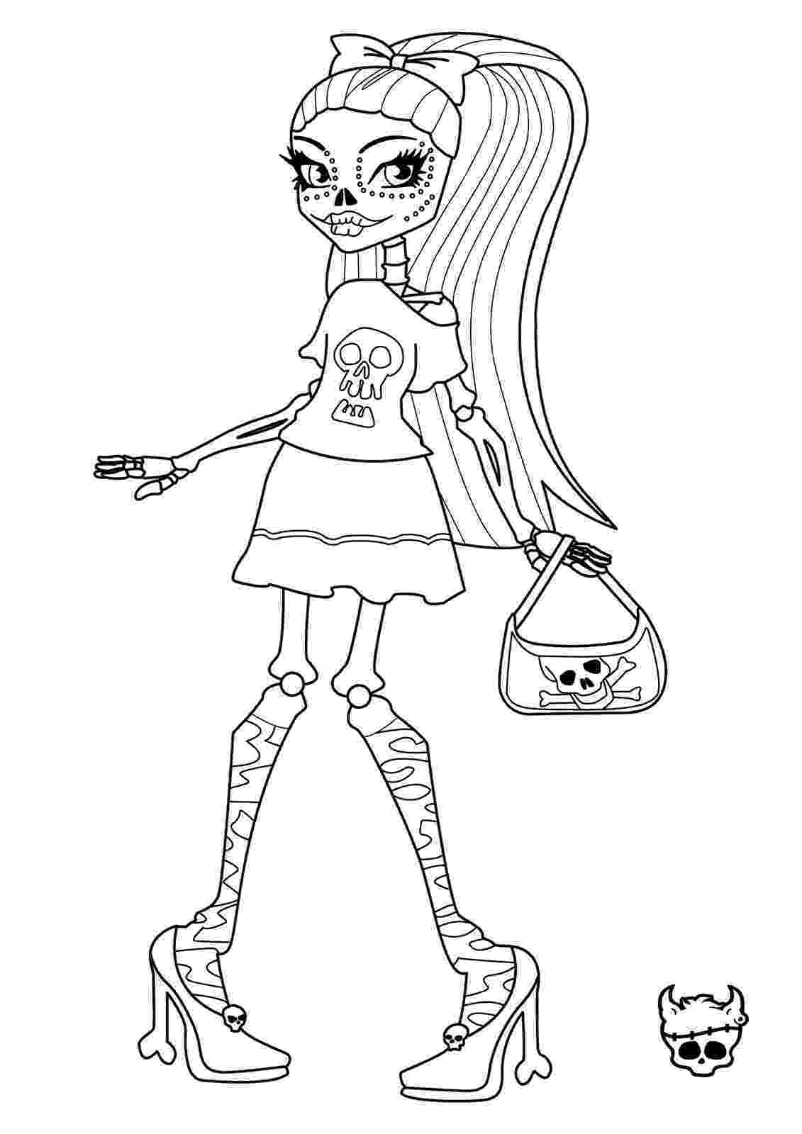 monster high coloring pages printables free printable monster high coloring pages february 2013 pages high monster printables coloring
