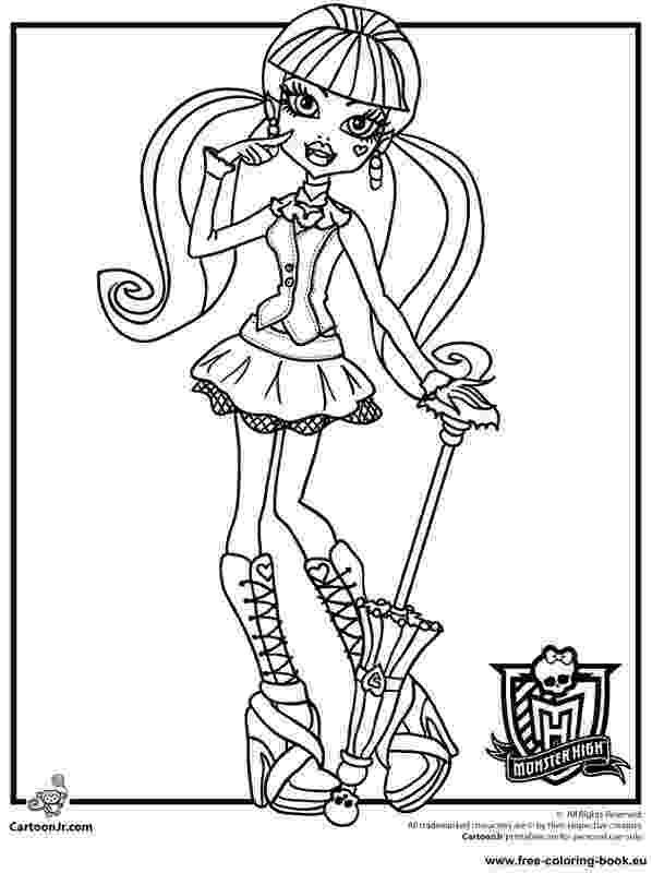 monster high coloring pages printables monster high coloring pages getcoloringpagescom high printables monster coloring pages