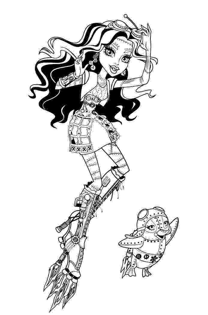 monster high coloring pages robecca steam pin by claire hedrick adams on monster high pinterest monster coloring robecca pages steam high