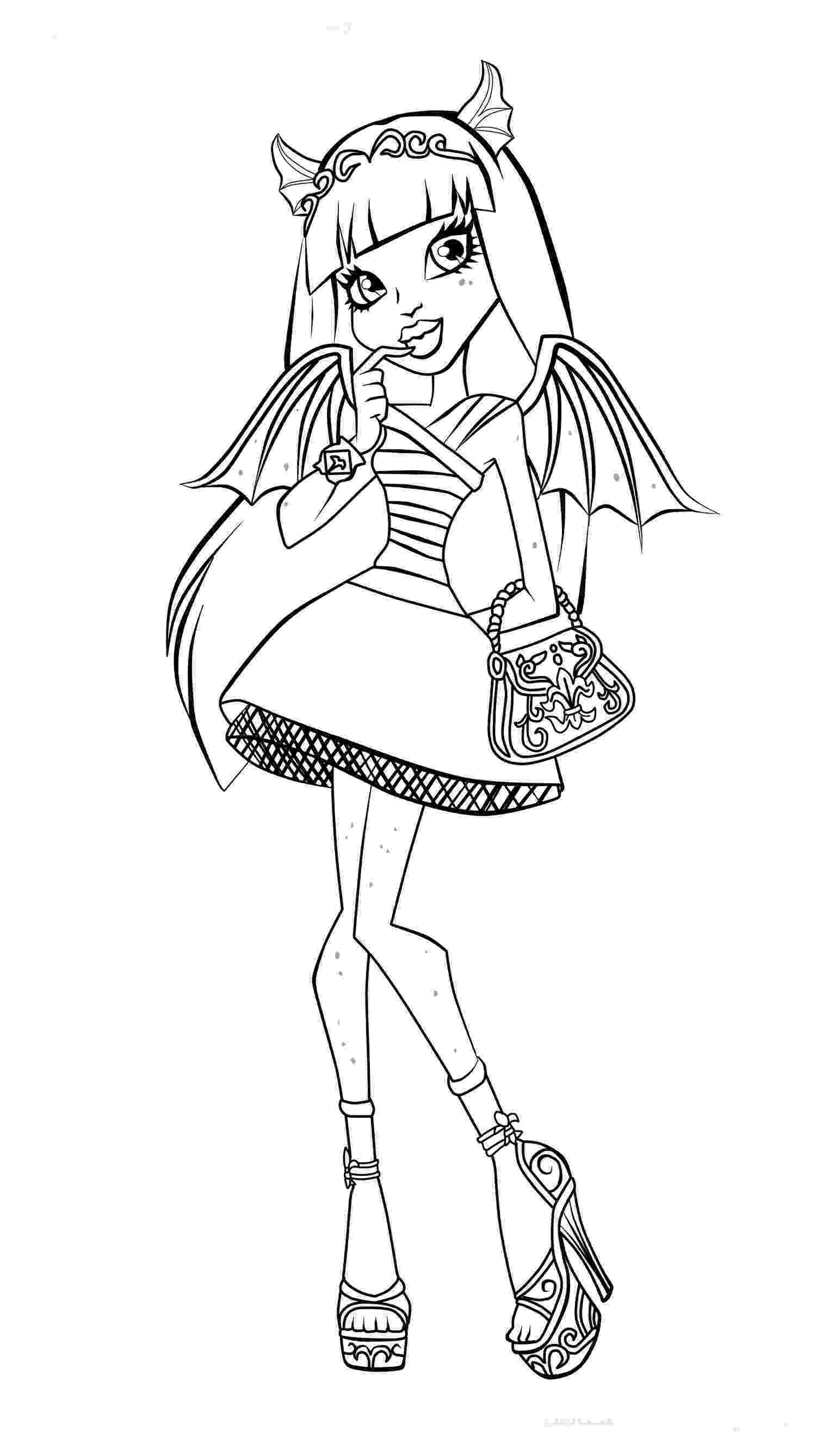 monster high colouring sheets free printable monster high coloring pages for kids monster sheets high colouring