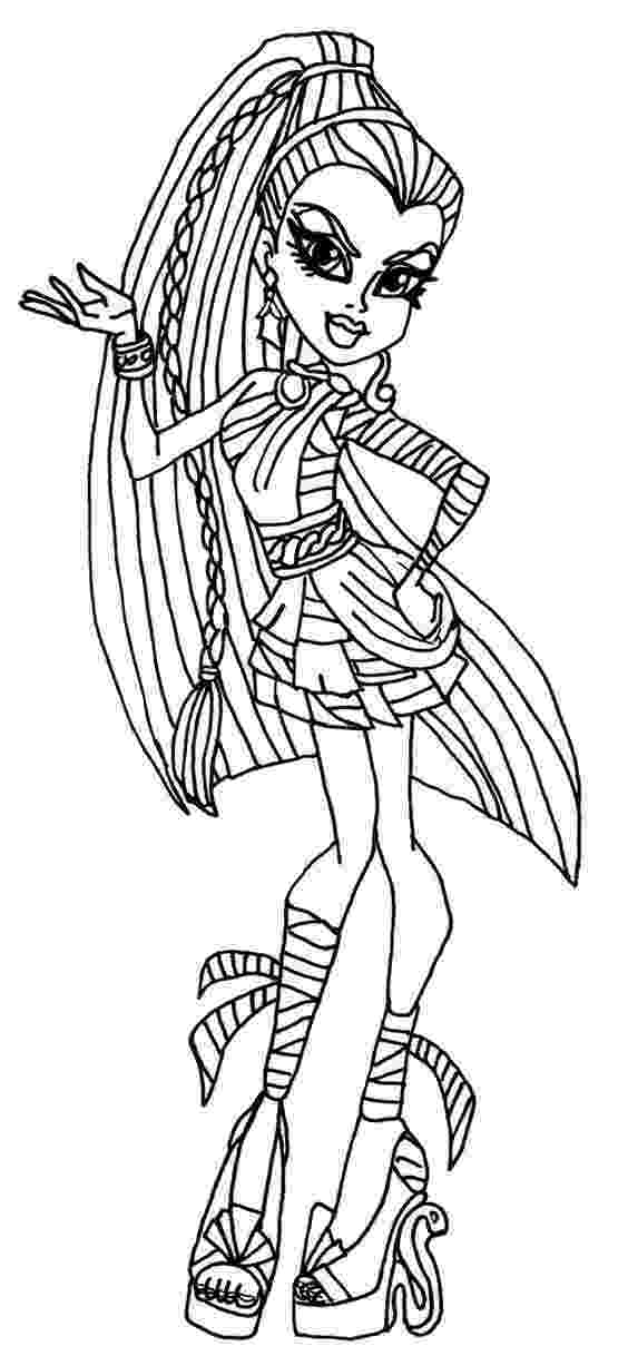 monster high print coloring pages monster high coloring pages free and printable print high monster