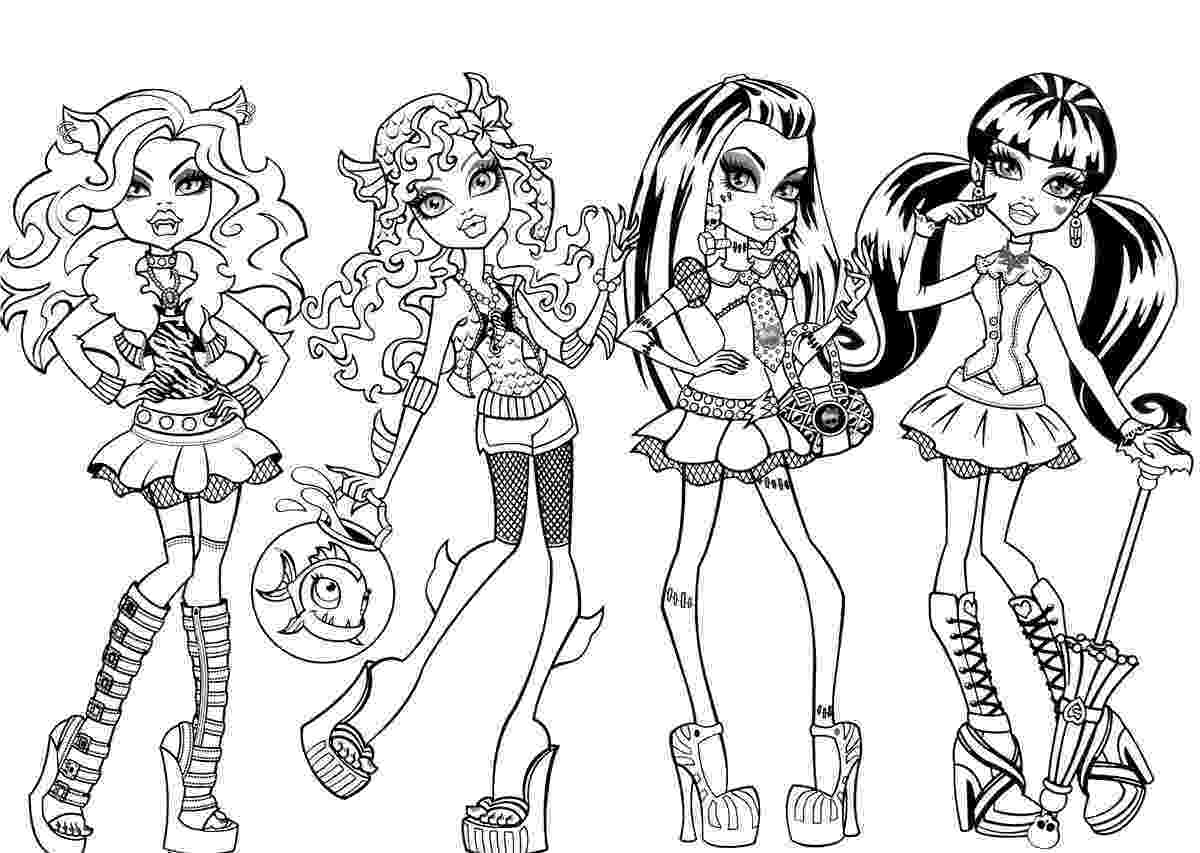 monster high print coloring pages monster high coloring pages free and printable print monster high