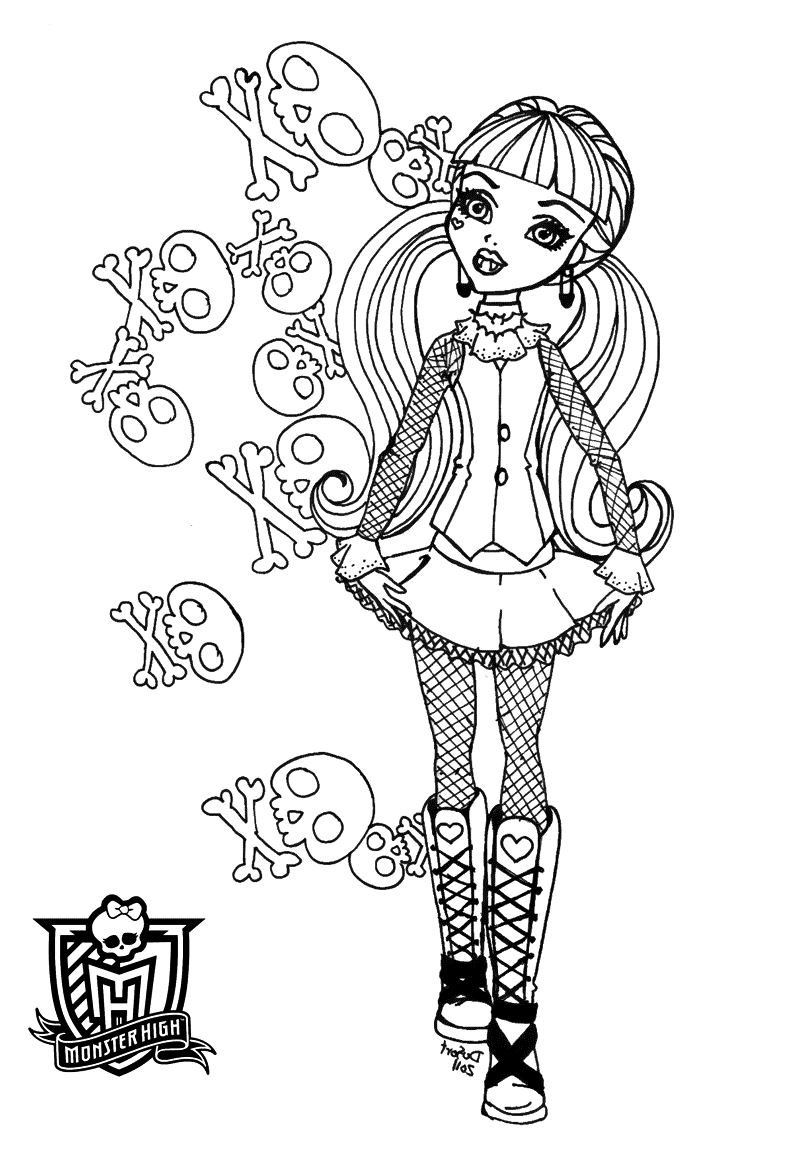 monster high print monster high coloring pages free coloring pages print monster high