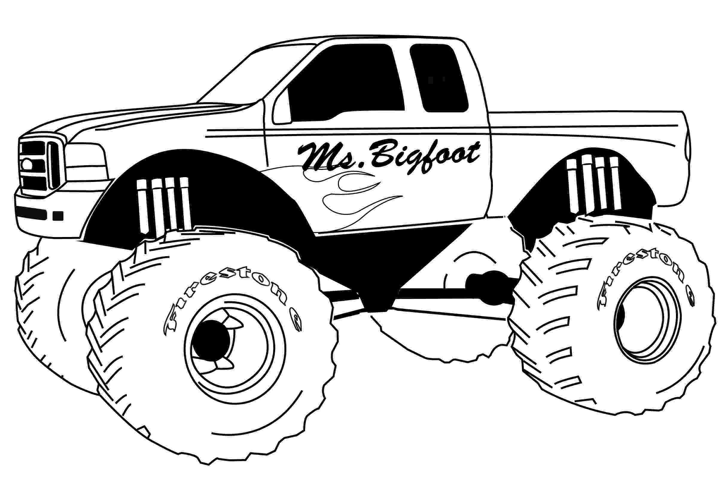 monster trucks colouring pages bigfoot monster truck coloring page free printable monster pages trucks colouring