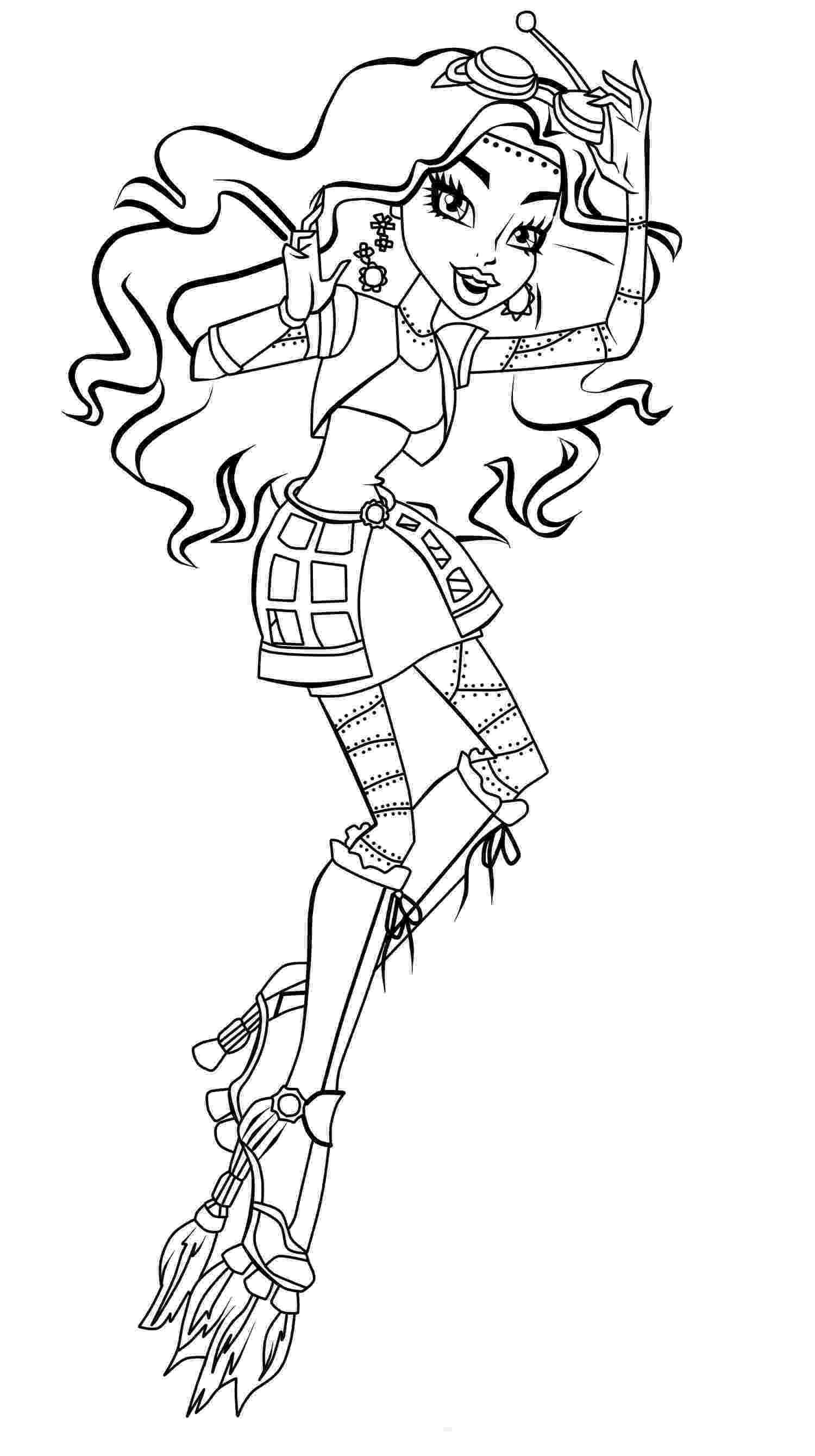 monsters high coloring pages print monster high coloring pages for free or download high monsters coloring pages