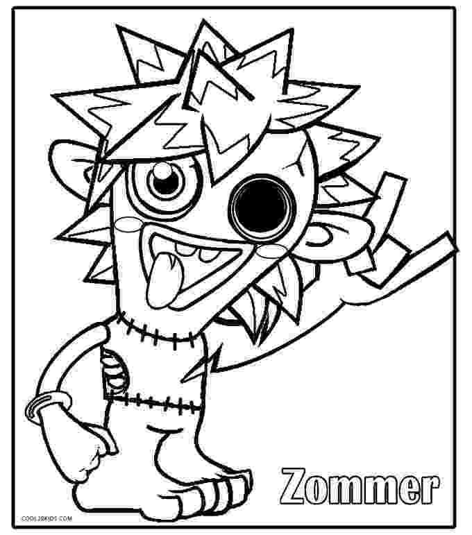moshi monster coloring pages july 2013 team colors coloring monster moshi pages