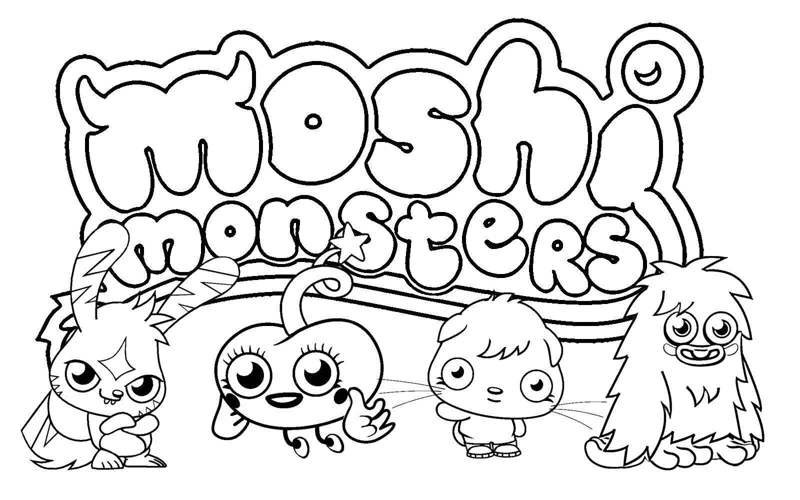 moshi monster coloring pages printable moshi monsters coloring pages for kids cool2bkids pages coloring moshi monster