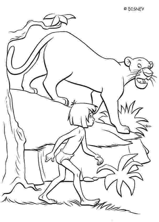 mowgli coloring pages bagheera talks to mowgli coloring pages hellokidscom coloring pages mowgli