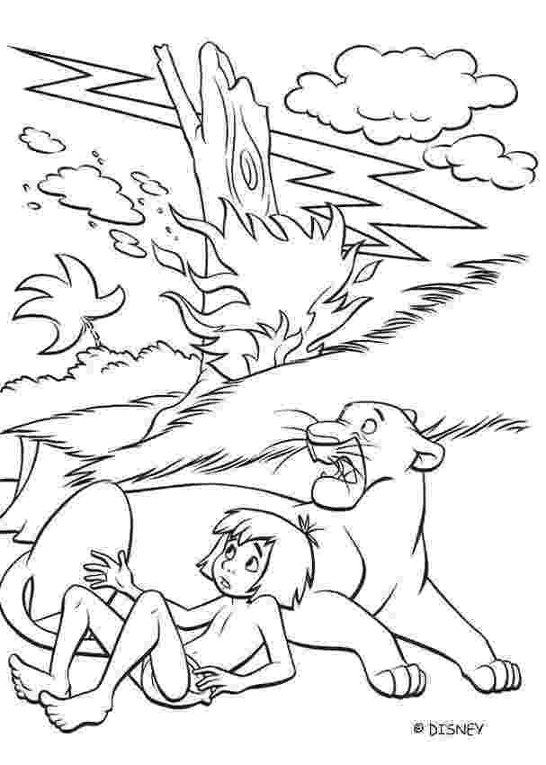 mowgli coloring pages mowgli and bagheera coloring pages hellokidscom coloring mowgli pages