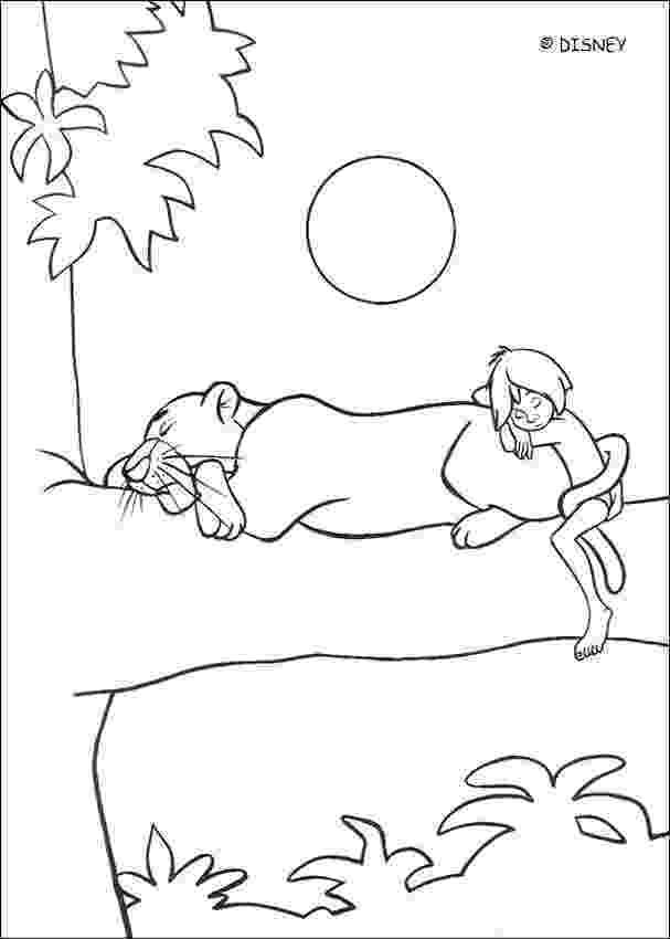 mowgli coloring pages mowgli teasing shanti in the jungle book coloring page pages mowgli coloring