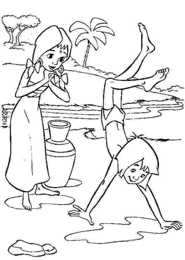 mowgli coloring pages the jungle book coloring pages disneyclipscom coloring pages mowgli 1 1