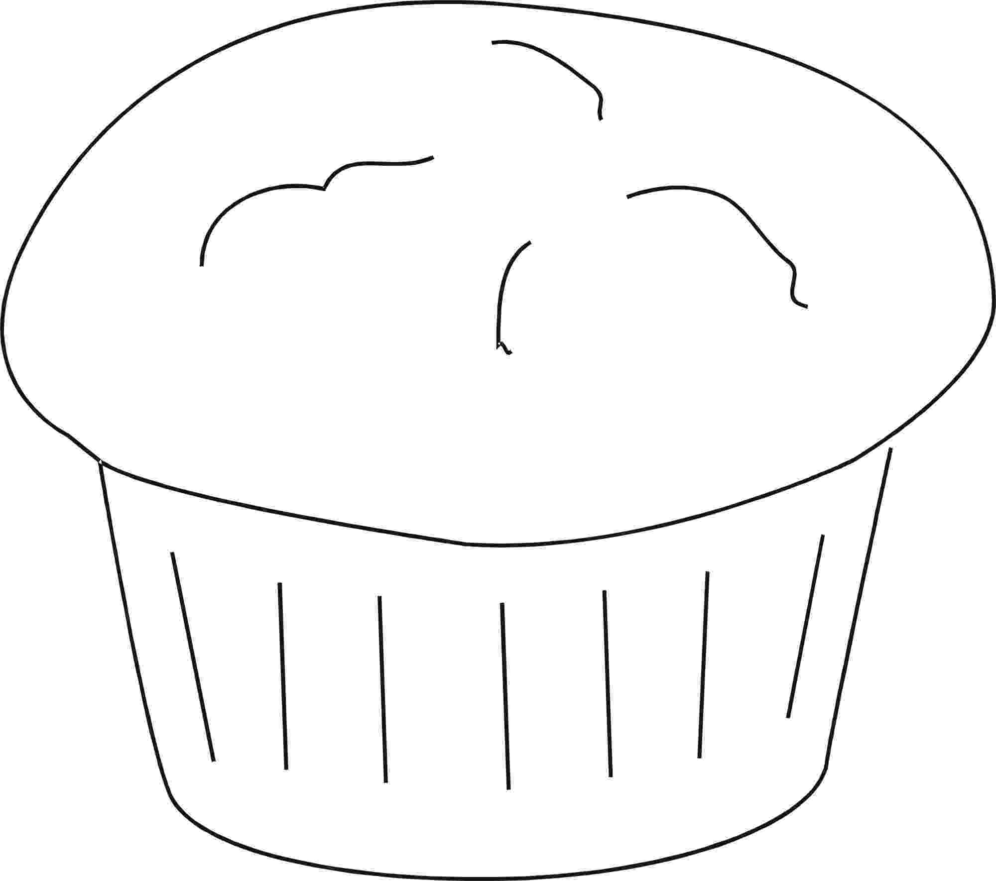 muffin coloring pages generic muffin b and w clip art at clkercom vector coloring muffin pages